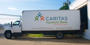 CARITAS Furniture Bank truck side view 2