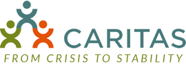 CARITAS logo and slogan